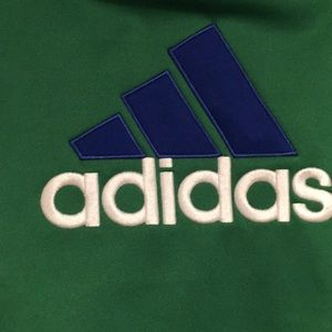 adidas Shirts & Tops - Adidas Green embroidered logo Hoodie